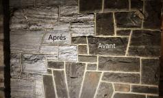 Nettoyage foyer pierre et brique